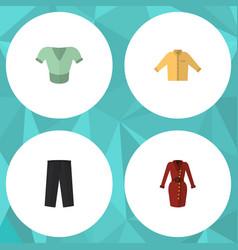 flat icon garment set of casual clothes banyan vector image