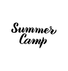 Summer camp handwritten calligraphy vector