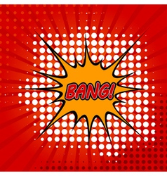 Bang comic speech bubble vector