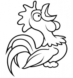 Crowing rooster vector