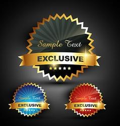 excluxive label vector image