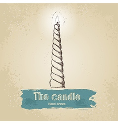 Hand drawn candle vector