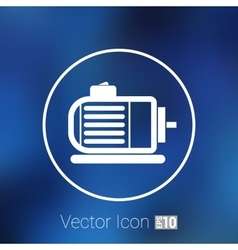 Electric motor icon engine symbol power vector
