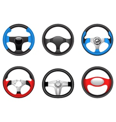 Steering wheels vector
