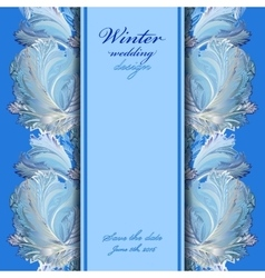 Winter frozen glass design background text place vector