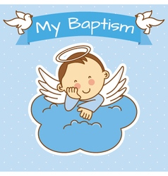Boy baptism vector