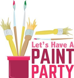 Paint party vector