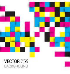 Background squares full color cmyk vector