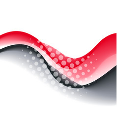 Abstract red color wave design element vector