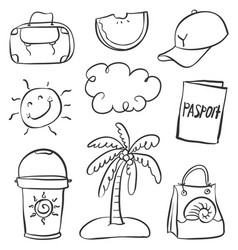 Art of summer doodle style vector