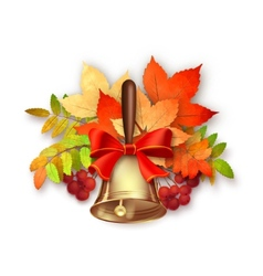 Autumn fall leaves and bell vector