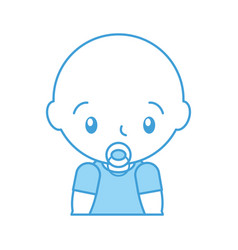Baby shower boy with pacifier celebration image vector