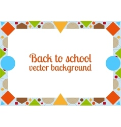 Back to school background with frame vector