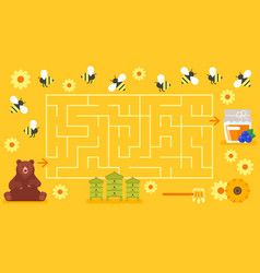board game template childrens labyrinth vector image vector image