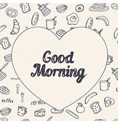 Breakfast background vector image vector image