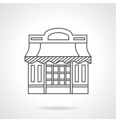 Cafeteria Storefronts flat line icon vector image