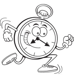 Cartoon running clock vector image vector image