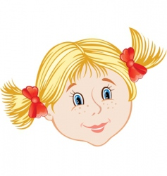 face of little girl vector image vector image