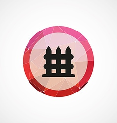 Fence circle pink triangle background icon vector
