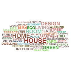 House and home vector image