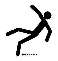 man slip fall vector image