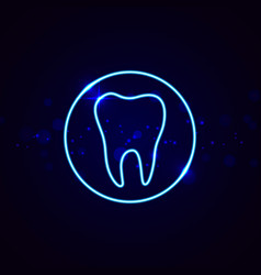 neon dental sign vector image vector image