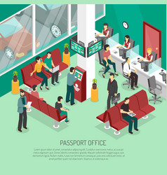 passport office isometric vector image vector image