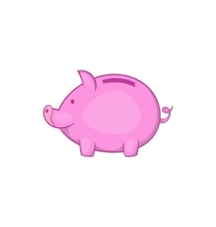 Pink piggy bank icon cartoon style vector image vector image