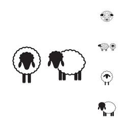 sheep or ram icon logo template pictogram vector image vector image