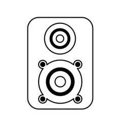 Speaker music isolated icon vector