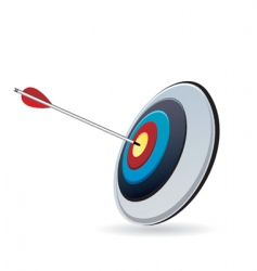 target and arrow vector image