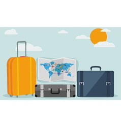 Travel background isolated on stylish background vector image vector image