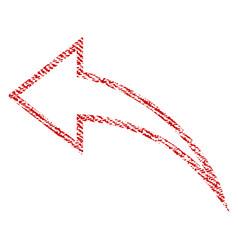 Undo fabric textured icon vector