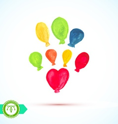 Watercolor balloons vector