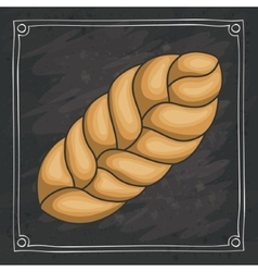Wheat ear of bakery food design vector