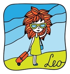 Zodiac signs Leo vector image