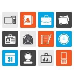 Flat web applicationsbusiness and office icons vector