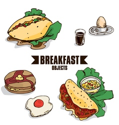 Breakfast object c vector