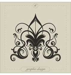 Graphic element flourish vector