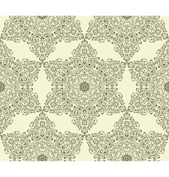 seamless vintage highly detailed hexagon pattern vector image