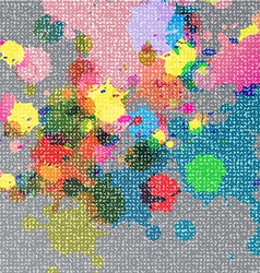 Ink color on fabric texture vector