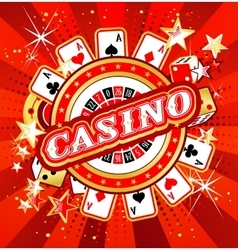 Emblem gambling casinos vector