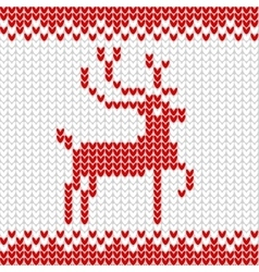 Knitted realistic seamless pattern of white color vector