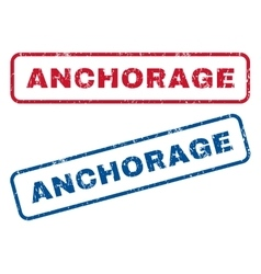 Anchorage rubber stamps vector