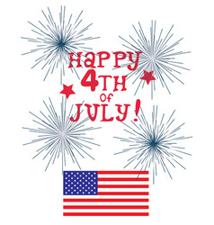 Fourth of july vector