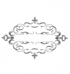 Scrollwork frame vector