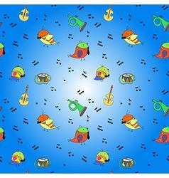 Bird musical instrument note vector