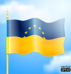 Europe ukraine flag vector