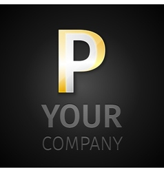 abstract logo letter P vector image