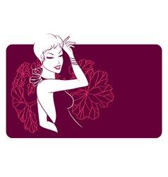 woman banner vector image